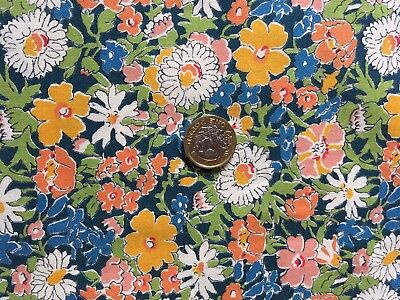 Unused Vtg Liberty Busy Floral Print Country Cotton 1 mtr (3 mtr)