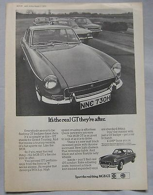 1970 MGB GT Original advert No.1