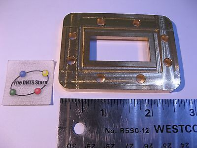 """CPR137G Waveguide Flange WR137 1/4"""" Thick Brass 1/8"""" Butt Microwave CPRG137 New"""