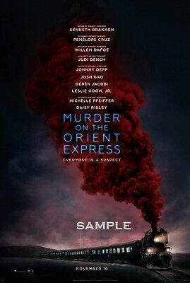 3 posters for 2 Murder on the Orient Express 2017 A4 Movie Poster Print
