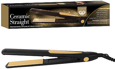 Vfm Professional Tourmaline Ceramic Salon Hair Straighteners Flat Iron Full Size