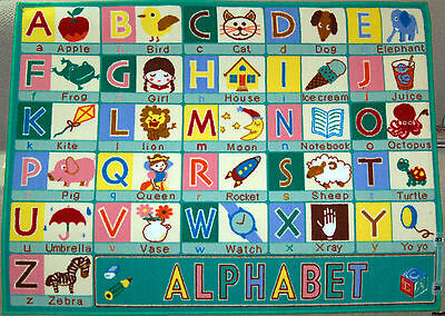 100x133cm Kids ABC Alphabet Letters Play Mat Childrens Rug Pictures Boys Girls