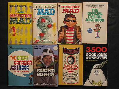 Joke book lot 8 - Mad and Various Joke Books, most 1970's