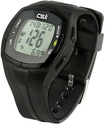 CSX Heart Rate Monitor Watch With Chest Strap, HRM C536X, Black