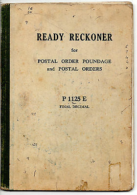 4 X POSTAL ORDER READY RECKONERS for POUNDAGE c1971;1973;1990;1991. Post Office