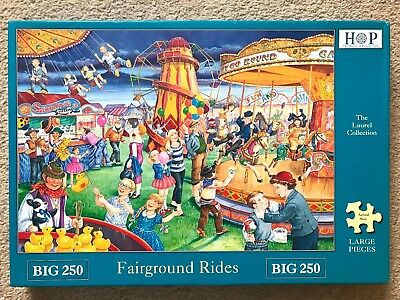 House of Puzzles BIG 250 'Fairground rides' excellent condition completed once
