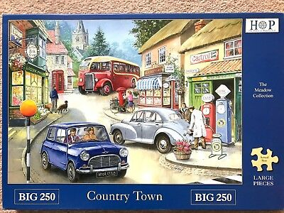 House of Puzzles BIG 250 'Country Town' excellent condition completed once