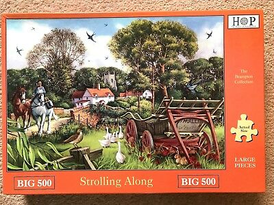 House of Puzzles BIG 500 'Strolling Along' excellent condition completed once