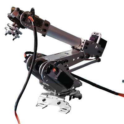 6-Axis Stainless Steel Robot Arm Metal Robotic Manipulator with Servos.