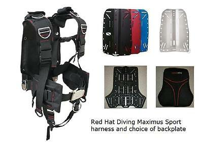 Red Hat Diving Maximus Sport harness with backplate