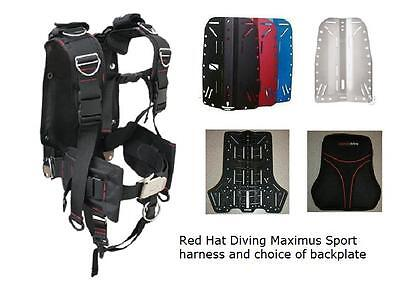 Red Hat Diving Maximus Sport harness with or without backplate 7 plate options