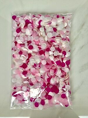 100g Pink and White Biodegradable Confetti Mix - others available