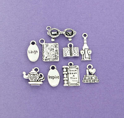 COL166 Ultimate Shoe Charm Collection Antique Silver Tone 18 Different Charms