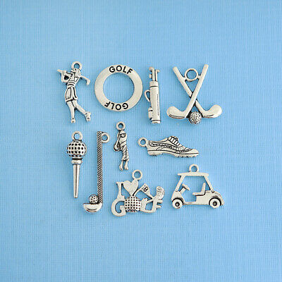 COL113 Pumpkin Charm Collection Antique Silver Tone 8 Charms