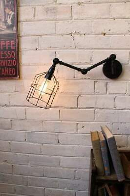 Wire Cage Swing Arm Wall Light