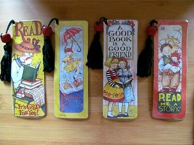 8 Mary Engelbreit Laminated Bookmarks 4 Different Designs New FREE SHIPPING