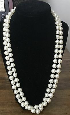 Vintage Simulated Pearl Necklace * Very Pretty