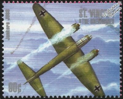 WWII Luftwaffe Junkers Ju.88 Bomber Aircraft Stamp (1940-2000 Battle of Britain)