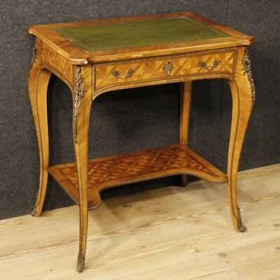 Writing desk table french inlaid wood antique style Louis XV furniture XX bureau