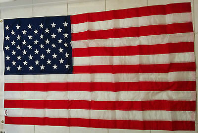 USA American Stars and Stripes US flag new embroidered (35 x 60 INCHES) durable
