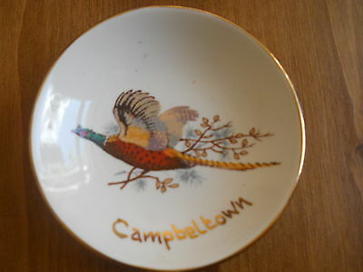 Rare West Highland Pottery Dunoon Scottish Campbeltown Dish With Pheasant