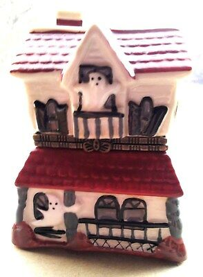 LARGE HALLOWEEN HAUNTED HOUSE Trinket Box with Surprise Inside!
