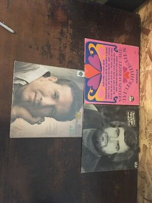 Lot Of Three Country Vinyls Marty Robbins Clay Willis SIGNED Lennon Sisters