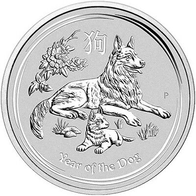 YEAR OF THE DOG - AUSTRALIAN LUNAR PERTH MINT - 2018 1 oz Silver Bullion Coin