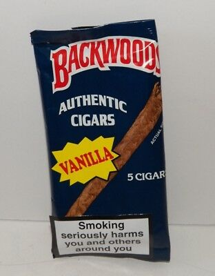 SUPER RARE Backwoods VANILLA Flavored CIGARS ~ Pack of 5 ~ BRAND NEW & SEALED!!!