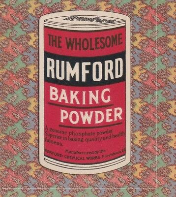 The Rumford Way Of Cookery and Household Economy 1930 Advertisement Cookbook