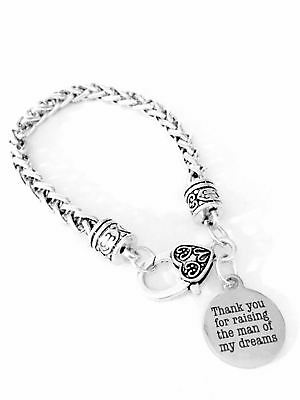 Mother Of The Groom Thank You For Raising Wedding In Law Gift Charm Bracelet