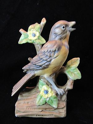"Vintage Ceramic Robin Bird Figurine 6"" Tall"