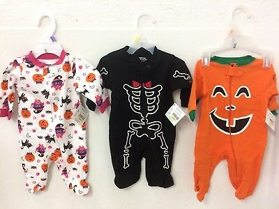 New Baby Halloween Outfits Sleepers Size Newborn Boy or Girl Reborn Baby Also