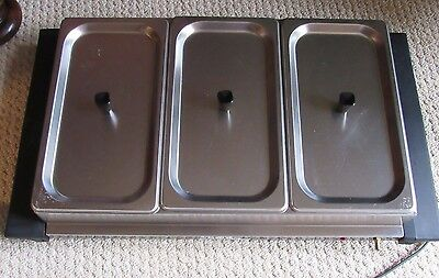 Broil King Triple Buffet Server/Chafing Dish With Three 2.6 qt. Trays & Lids