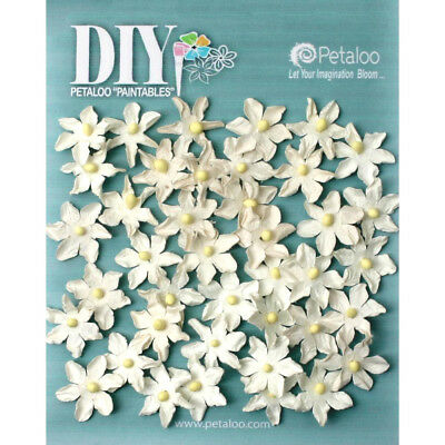 Mini Daisy Petite WHITE DIY 40 Paper 20-22mm Pearl Centre Penny Lane Petaloo Ver