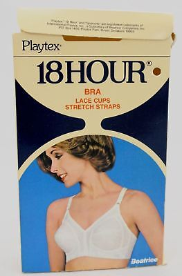 Vtg 60s Playtex 18 Hour BRA White Style #27 In Box  NOS  Sizes 38D  & 40D