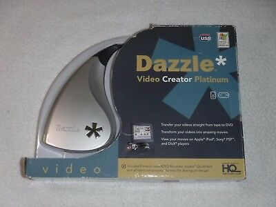 New Dazzle Video Creator Platinum VHS To DVD w/ Pinnacle InstantDVD Recorder