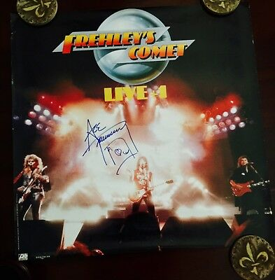 Kiss Ace Frehley Signed Promo Poster 24x24