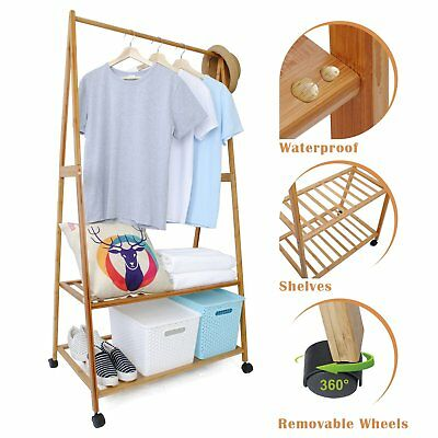 Wooden Coats Stand Jackets Shoes Hats Scarf Clothing Hanger Hanging Rack Storage