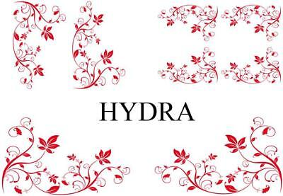 Set Adhesifs -ELEMENT HYDRA- Rouge - Car Deco