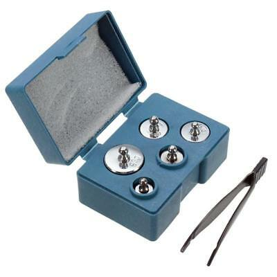 Precision Calibration Weight Digital Scale Set Tweezers Weighing Tools Kit Box