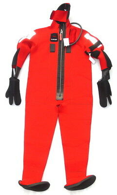 Fitzwright Immersion Diving Suit Adult Size Model 9700 Solas Uscg Approved - Nos