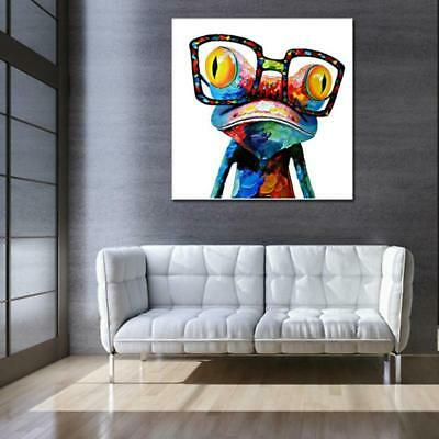 Abstract Painting Frog Animal Acrylic Oil Hand Painted Canvas Home Wall Decor