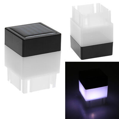 Solar Powered Outdoor LED Square Fence Light Garden Landscape Post Deck Lamp