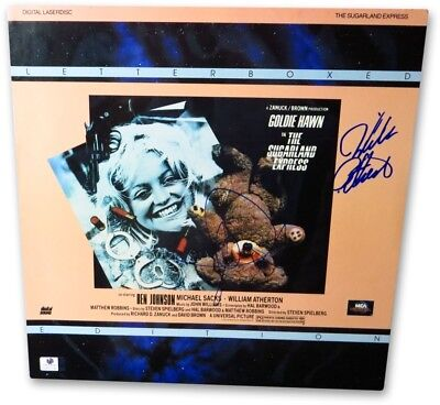 Goldie Hawn William Atherton Signed Laserdisc Cover Sugarland Express 857799