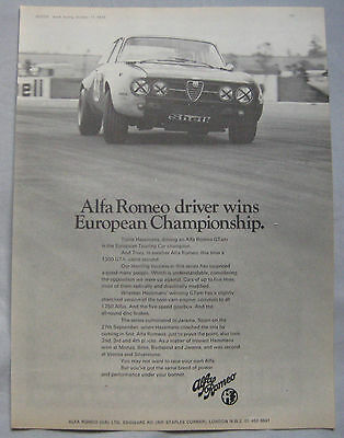 1970 Alfa Romeo Original advert