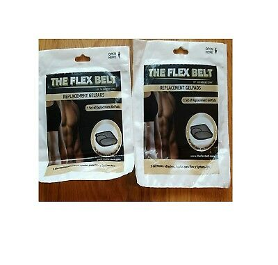 BrandNew The Flex Ab Belt System Toning belt 2 set of the gel pads