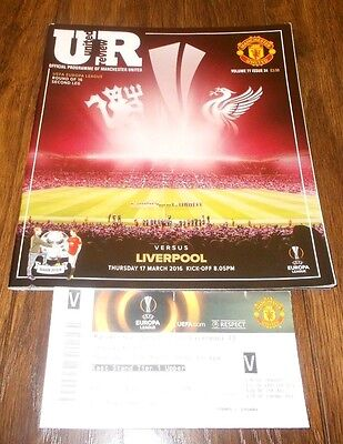 Manchester United vs Liverpool Europa League 2016 + Ticket