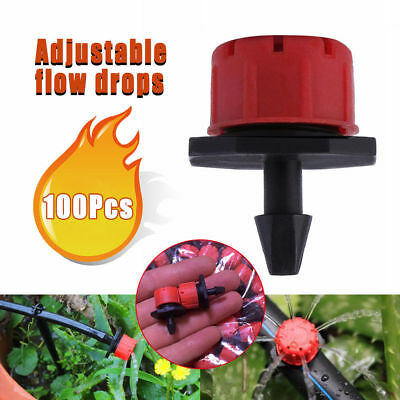 "100X Micro Drip Irrigation Watering Anti-clogging Emitter Drippers on 1/4"" Tools"