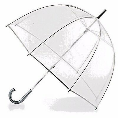 Clear Totes Bubble Umbrella Polyester Stylish Windproof Dome Canopy Rain Wind